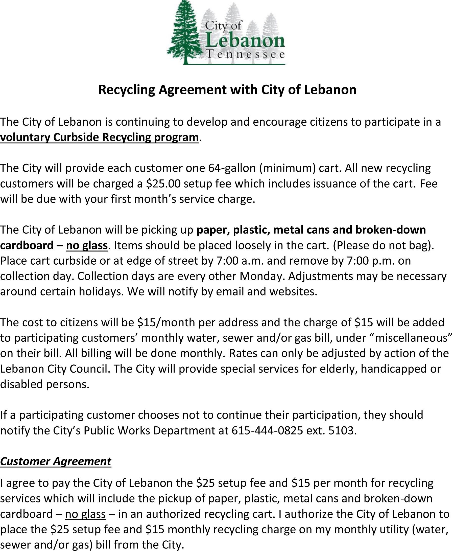 Recycling Agreement with City of Lebanon v2 5.3.19
