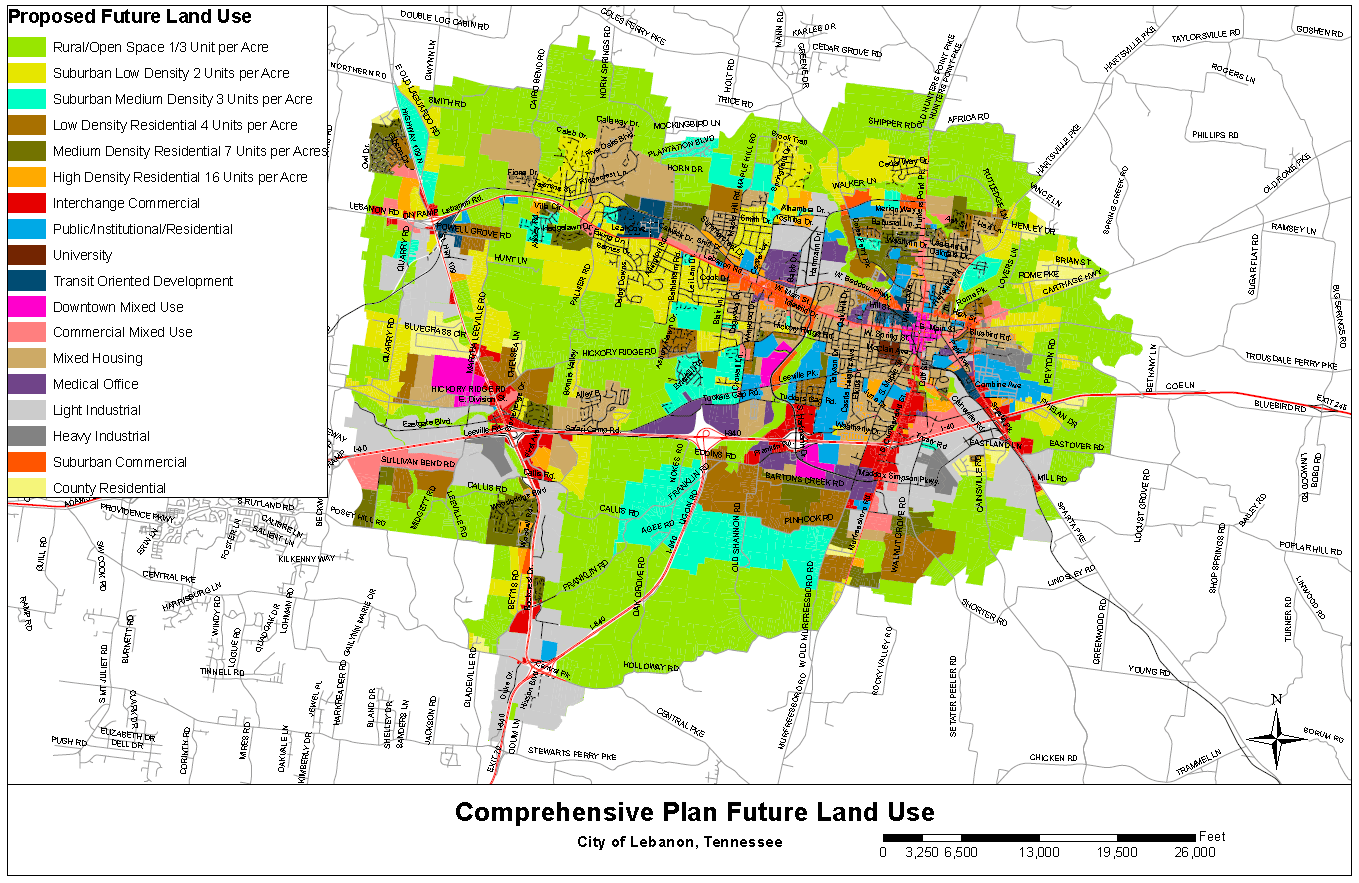 Comprehensive Plan Future Land Use Plan Map