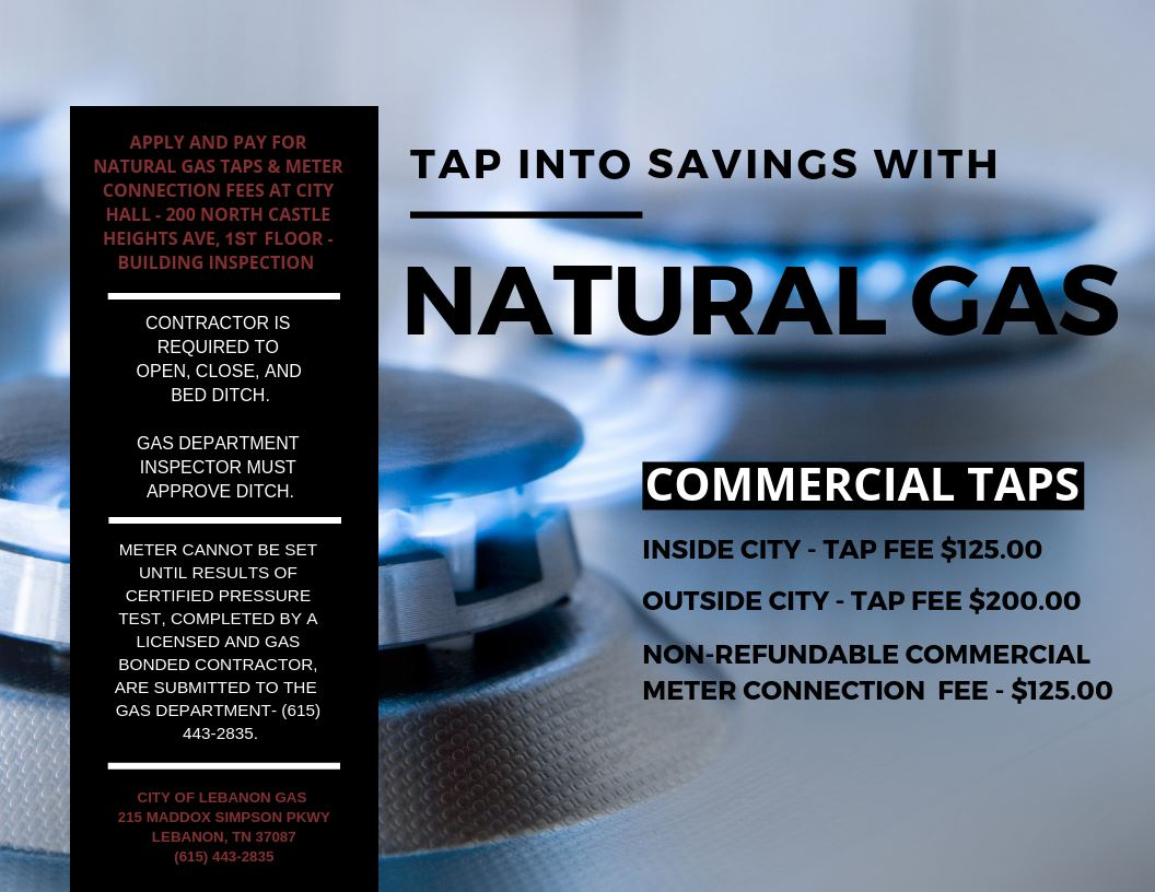 COMMERCIAL TAP INFORMATION