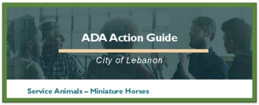ADA Action Guide - Miniature Horses Title Image